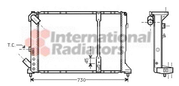 Radiateur, refroidissement du moteur - VAN WEZEL - 43002209