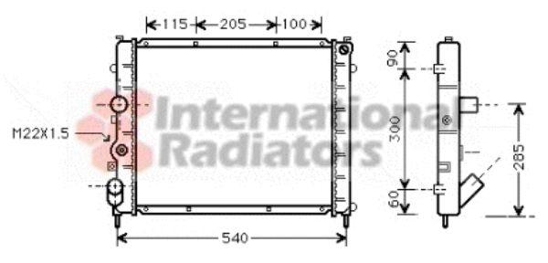 Radiateur, refroidissement du moteur - VAN WEZEL - 43002215
