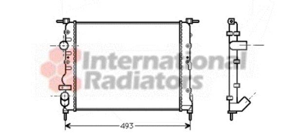 Radiateur, refroidissement du moteur - VAN WEZEL - 43002218