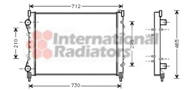 Radiateur, refroidissement du moteur - VAN WEZEL - 43002233