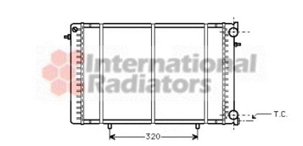 Radiateur, refroidissement du moteur - VAN WEZEL - 43002239