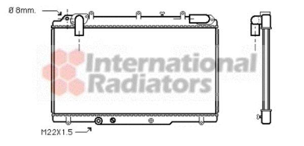 Radiateur, refroidissement du moteur - VAN WEZEL - 43002240