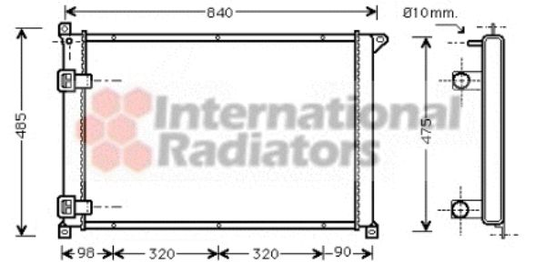Radiateur, refroidissement du moteur - VAN WEZEL - 43002257