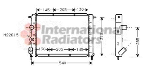 Radiateur, refroidissement du moteur - VAN WEZEL - 43002258