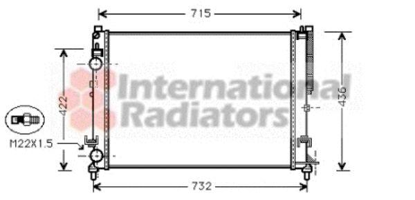 Radiateur, refroidissement du moteur - VAN WEZEL - 43002259