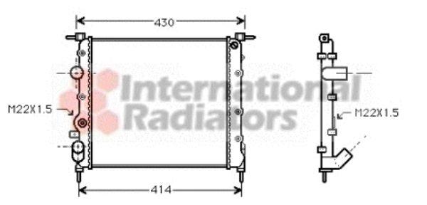 Radiateur, refroidissement du moteur - VAN WEZEL - 43002260