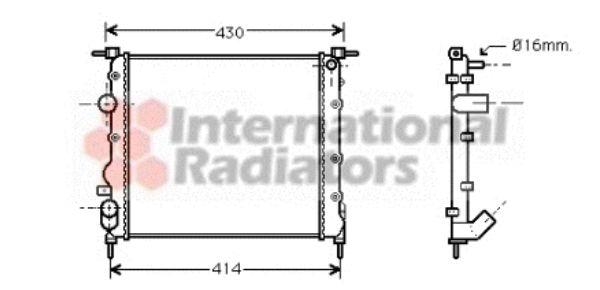 Radiateur, refroidissement du moteur - VWA - 88VWA43002261