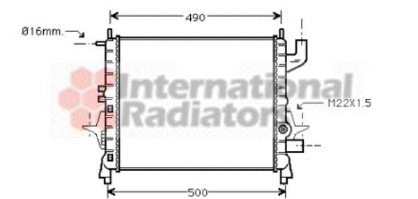 Radiateur, refroidissement du moteur - VAN WEZEL - 43002262
