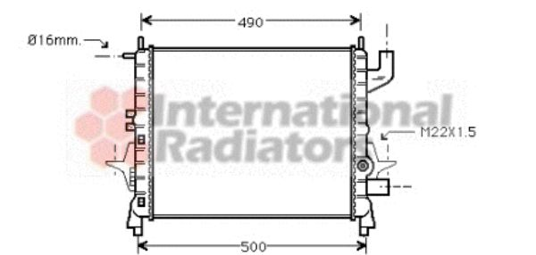 Radiateur, refroidissement du moteur - VWA - 88VWA43002262