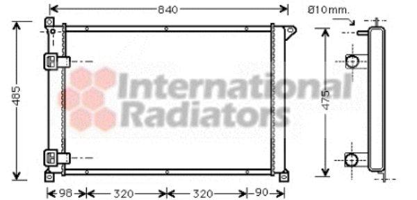 Radiateur, refroidissement du moteur - VAN WEZEL - 43002265