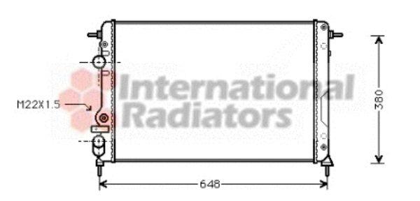 Radiateur, refroidissement du moteur - VAN WEZEL - 43002266