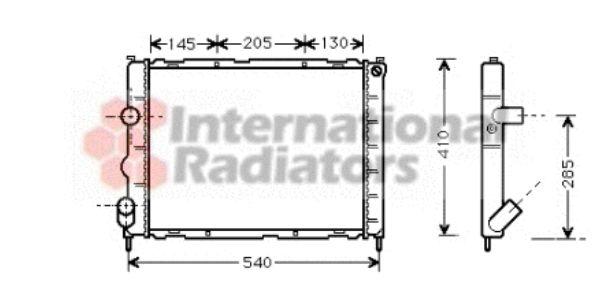 Radiateur, refroidissement du moteur - VWA - 88VWA43002267