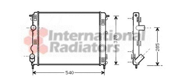 Radiateur, refroidissement du moteur - VAN WEZEL - 43002270