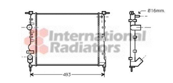 Radiateur, refroidissement du moteur - VAN WEZEL - 43002271