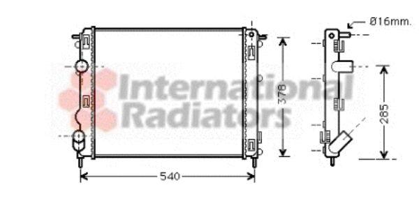 Radiateur, refroidissement du moteur - VAN WEZEL - 43002272
