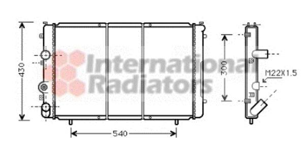 Radiateur, refroidissement du moteur - VAN WEZEL - 43002274