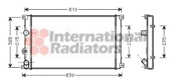 Radiateur, refroidissement du moteur - VAN WEZEL - 43002276