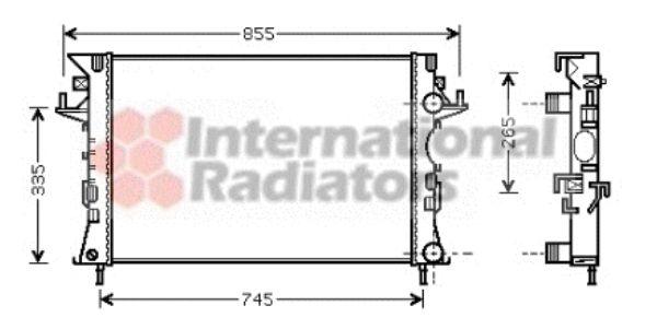 Radiateur, refroidissement du moteur - VAN WEZEL - 43002290
