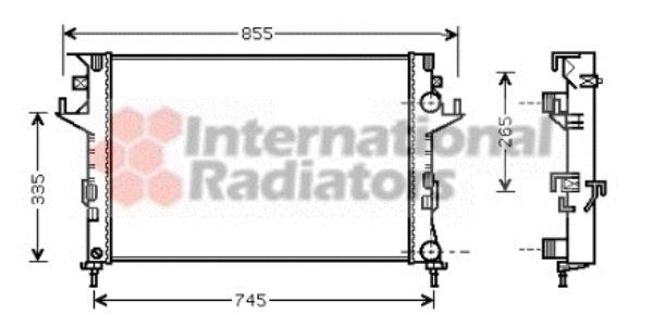 Radiateur, refroidissement du moteur - VAN WEZEL - 43002291