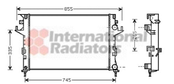Radiateur, refroidissement du moteur - VWA - 88VWA43002291