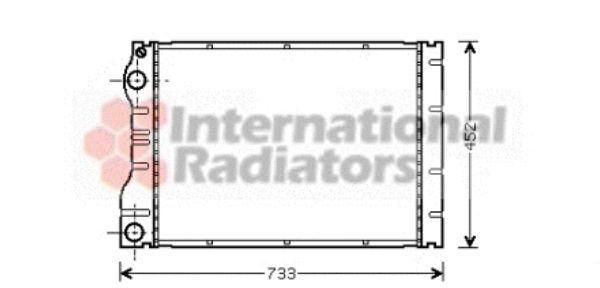 Radiateur, refroidissement du moteur - VAN WEZEL - 43002293