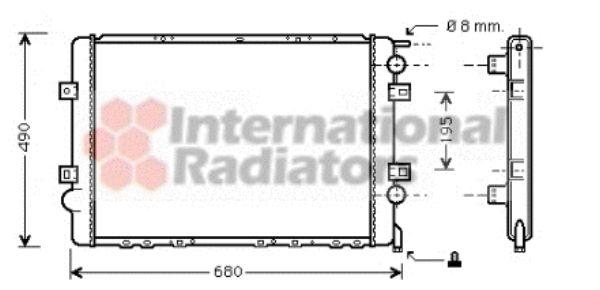 Radiateur, refroidissement du moteur - VAN WEZEL - 43002299