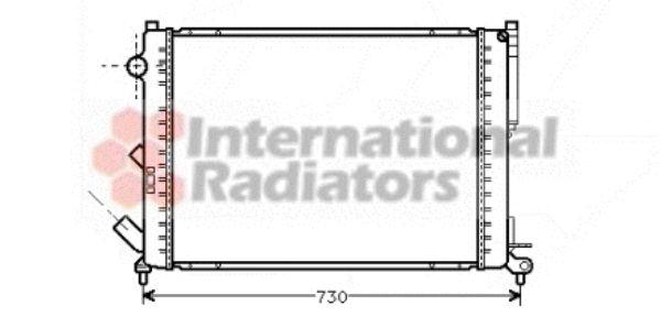 Radiateur, refroidissement du moteur - VAN WEZEL - 43002301