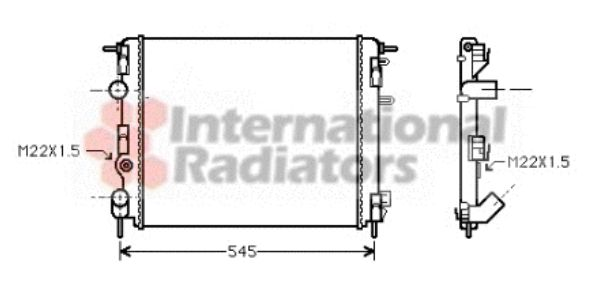 Radiateur, refroidissement du moteur - VAN WEZEL - 43002302