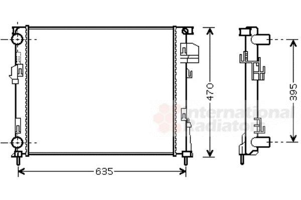 Radiateur, refroidissement du moteur - VAN WEZEL - 43002303