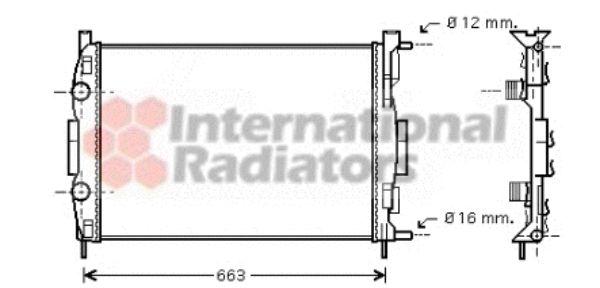 Radiateur, refroidissement du moteur - VAN WEZEL - 43002308