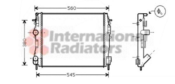 Radiateur, refroidissement du moteur - VAN WEZEL - 43002309