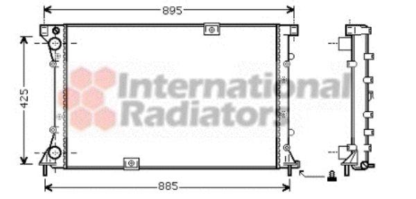 Radiateur, refroidissement du moteur - VAN WEZEL - 43002313