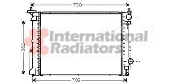Radiateur, refroidissement du moteur - VAN WEZEL - 43002319