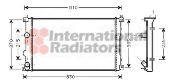 Radiateur, refroidissement du moteur - VAN WEZEL - 43002321