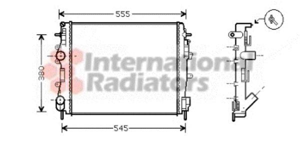 Radiateur, refroidissement du moteur - VWA - 88VWA43002325