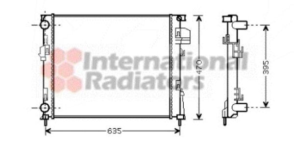 Radiateur, refroidissement du moteur - VAN WEZEL - 43002327