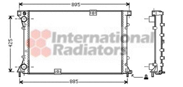 Radiateur, refroidissement du moteur - VAN WEZEL - 43002360