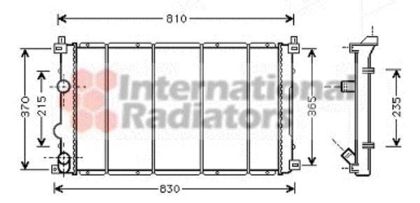Radiateur, refroidissement du moteur - VAN WEZEL - 43002361