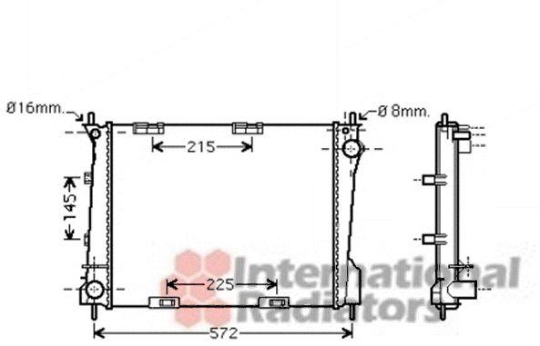 Radiateur, refroidissement du moteur - VAN WEZEL - 43002371