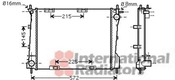 Radiateur, refroidissement du moteur - VAN WEZEL - 43002372