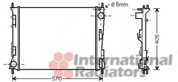 Radiateur, refroidissement du moteur - VAN WEZEL - 43002374