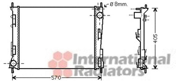 Radiateur, refroidissement du moteur - VAN WEZEL - 43002375
