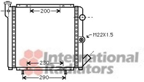 Radiateur, refroidissement du moteur - VAN WEZEL - 43002377