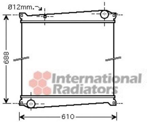 Radiateur, refroidissement du moteur - VWA - 88VWA43002379