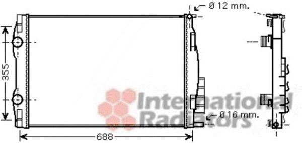Radiateur, refroidissement du moteur - VAN WEZEL - 43002387