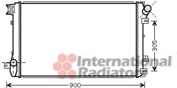 Radiateur, refroidissement du moteur - VAN WEZEL - 43002408