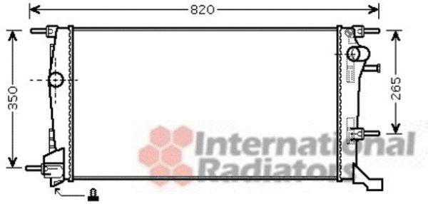 Radiateur, refroidissement du moteur - VAN WEZEL - 43002409