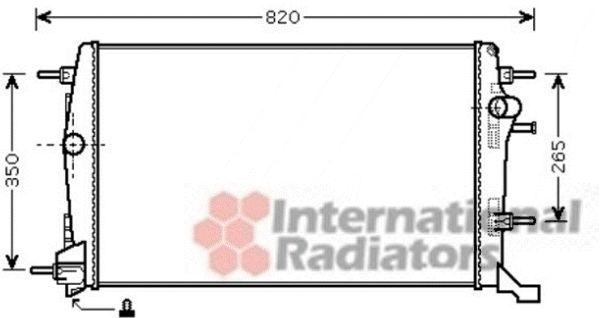 Radiateur, refroidissement du moteur - VAN WEZEL - 43002414