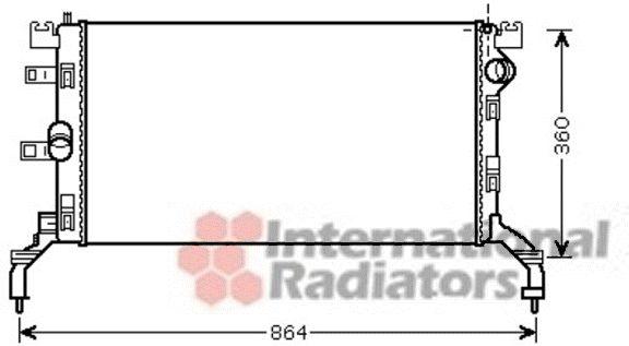Radiateur, refroidissement du moteur - VAN WEZEL - 43002415