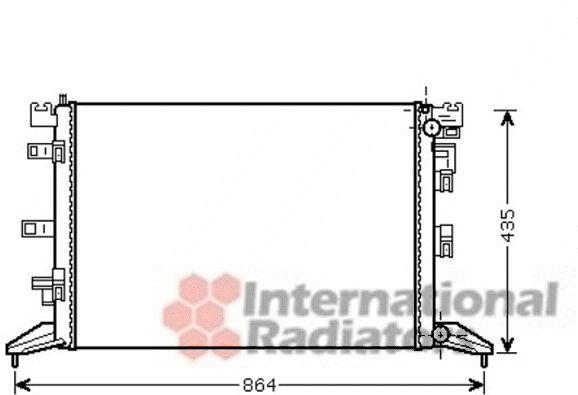 Radiateur, refroidissement du moteur - VAN WEZEL - 43002416